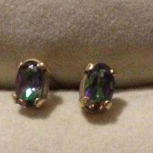 Rainbow Mystic Topaz Earrings